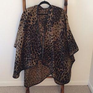 Leopard print cape